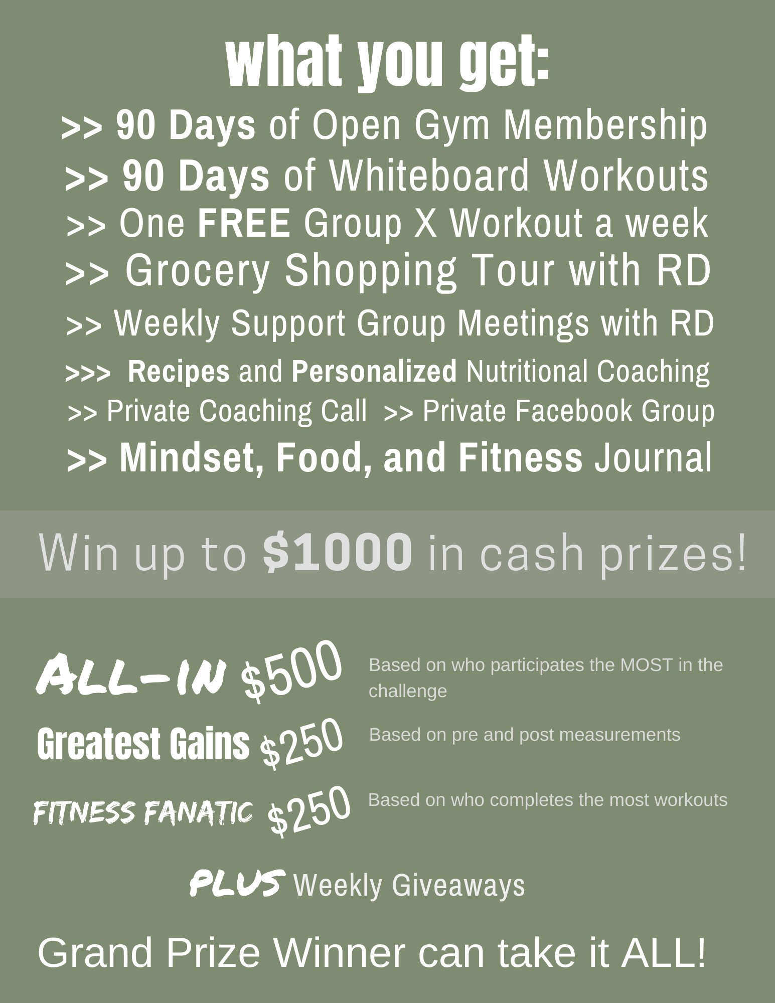 90 Day Challenge Package 2020 2